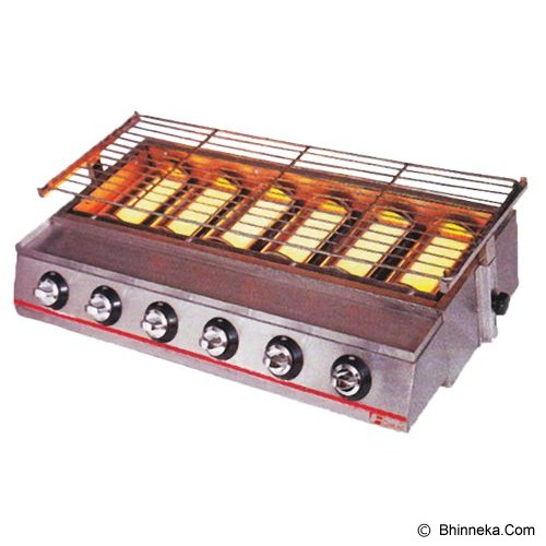 FOMAC 6 Head Environment Friendly Roaster (Gas) [ROS-GK233] - Barbeque Grill / Alat Panggang